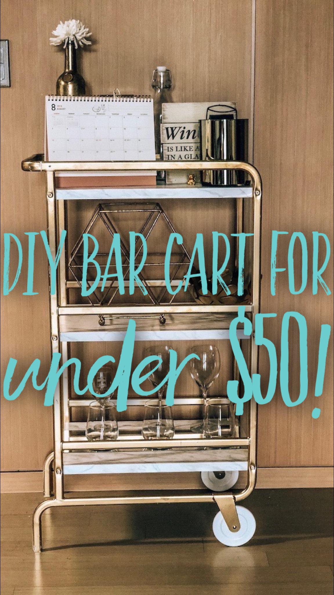 DIY Bar Cart for Under $50!